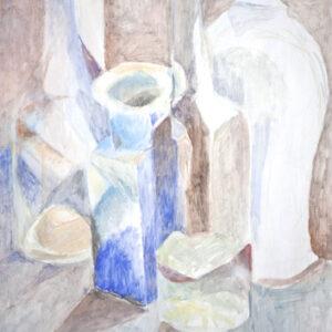 Musik der Flaschen, 60 x 48 cm, Öl, 2009