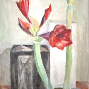 Rote Amaryllis, 60 x 48 cm, Öl, 2009