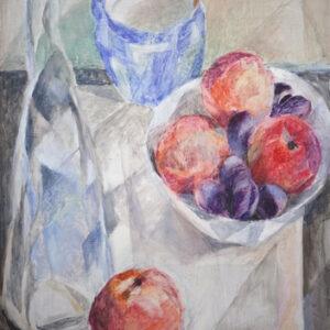 Äpfel und Zwetschgen, 60 x 48 cm, Öl, 2007