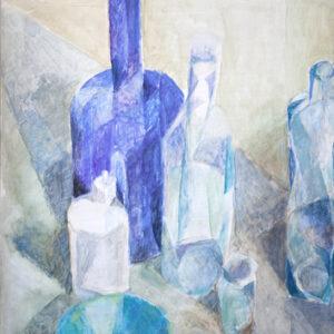 Gefäße in Blau, 60 x 48 cm, Öl, 2006