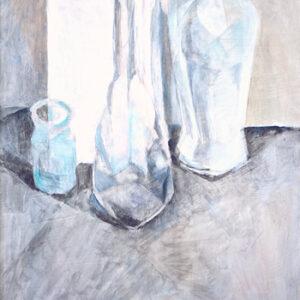 Drei schüchterne Flaschen, 60 x 48 cm, Öl, 2008