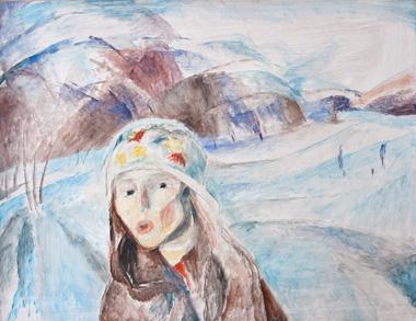 Spiel im Schnee, 60 x 48 cm, Öl, 2006