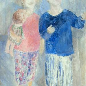 Ines und David, 78 x 60 cm, Öl, 1999