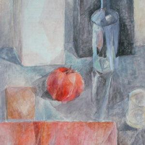 Tragendes Rot, 60 x 46 cm, Öl, 2006