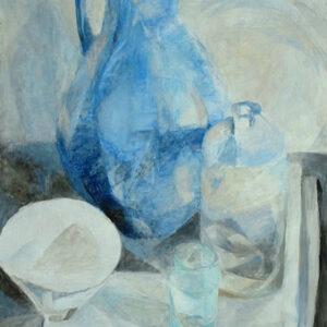 Großer blauer Krug, 78 x 60 cm, Öl, 2007