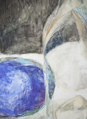 Ausschnitt: Blau, 60 x 48 cm, Öl, 2008