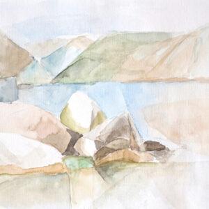 Steine – beinahe weis, 30 x 40 cm, Aquarell, 2006