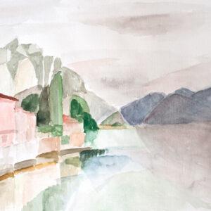 Gargnano, 30 x 40 cm, Aquarell, 2006